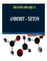 Bài giảng bài anđehit   xeton hóa học 11 (3)