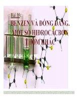 Bài 35 benzen và đồng đẳng  một số hiđrocacbon khác   12 bài giảng hóa học 11 (5)