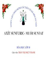 Bài giảng bài axit sunfuric và muối sunfat hóa học 10 (5)