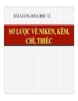 Bài giảng bài sơ lược về niken, kẽm, chì, thiếc hóa học 12