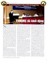 Dự án hệ thống thông tin quản lý và hiện đại hóa ngân hàng FSMIMS đã khởi động