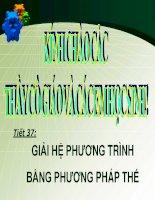 Bài giảng bài giải hệ phương trình bằng phương pháp thế đại số 9 (3)