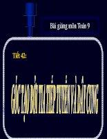 Bài giảng bài góc tạo bởi tia tiếp tuyến và dây cung hình học 9 (8)
