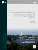 The comprehensive urban development programme in hanoi capital city of the socialist republic of vietnam (HAIDEP)