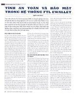 Tính an toàn và bảo mật trong hệ thống FTL EWALLET