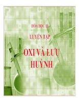 Bài giảng bài luyện tập oxi và lưu huỳnh hóa học 10 (5)