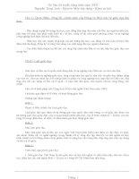 Tài liệu thi tuyển công chức năm 2002  Bộ môn Máy xây dựng - Khoa cơ khí