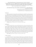 ẢNH HƯỞNG của CÁC THÔNG số vận HÀNH đến QUÁ TRÌNH CHÁY ĐỘNG cơ VIKYNO RV125 sử DỤNG NHIÊN LIỆU KÉP CNG DIESEL