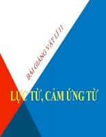 Bài giảng bài lực từ, cảm ứng từ vật lý 11 (4)