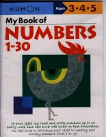 My Book of Numbers 1 - 30