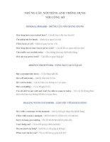 Những câu nói Tiếng Anh thông dụng trong công sở