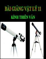 Bài giảng bài kính thiên văn vật lý 11 (9)