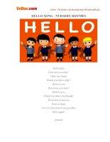 Video học Tiếng Anh cho trẻ em: Hello Song Nursery Rhymes