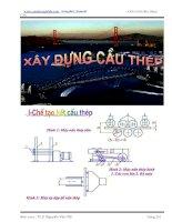 giáo trình thiết kế xây dựng cầu