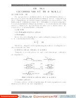 Bài giảng Điện tử cơ bản Chương 1 Các Linh Kiện Điện Tử Thụ Động R, L, C