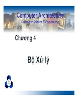 Bài giảng kiến trúc máy tính   chương 4 bộ xử lý