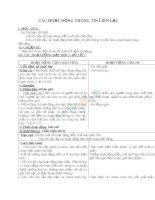Giáo án TNXH 3 bài các hoạt động thông tin liên lạc (6)