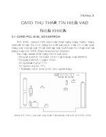 Bài giảng Đo lường và điều khiển bằng máy tính Chương 3 Card thu thập tín hiệu và điều khiển
