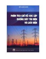 Ebook phân tích chế độ xác lập đường dây tải điện và lưới điện phần 1