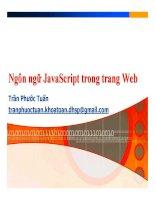 Bài giảng lập trình web ngôn ngữ javascript trong trang web   trần phước tuấn