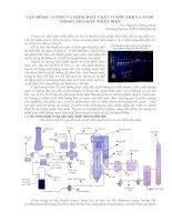 Vấn đề đo lường và kiểm soát chất lượng hơi và nước trong nhà máy nhiệt điện
