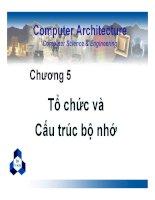 Bài giảng kiến trúc máy tính   chương 5 tổ chức và cấu trúc bộ nhớ