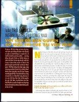 Vai trò của các ngân hàng thương mại với vấn đề bản quyền sở hữu trí tuệ tại việt nam