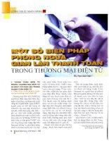 Một số biện pháp phòng ngừa gian lận thanh toán trong thương mại điện tử