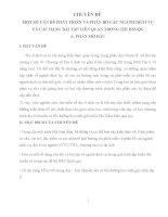 MỘT số vấn đề PHÁT TRIỂN và PHÂN bố các NGÀNH DỊCH vụ và các DẠNG bài tập LIÊN QUAN TRONG THI HSGQG
