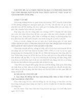LỰA CHỌN nội DUNG dạy và PHƯƠNG PHÁP ôn tập CHO HSGQG KHI GIẢNG dạy PHẦN LỊCH sử VIỆT NAM từ năm 1945 đến năm 1954