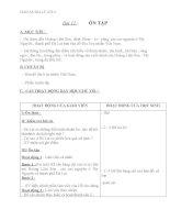 Giáo án địa lý 4 bài 11 ôn tập 2