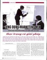 Ứng dụng marketing mix trong hoạt động kinh doanh của ngân hàng việt nam   thực trạng và giải pháp