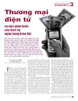Thương mại điện tử và việc phát triển các dịch vụ ngân hàng hiện đại