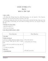 Giáo án địa lý 4 bài 11 ôn tập