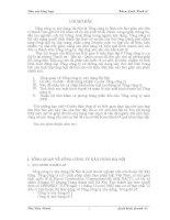 Báo cáo thực tập tổng hợp về tình hình sản xuất kinh doanh của tổng công ty xây dựng Hà Nội