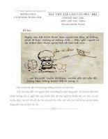 Bài viết tập làm văn số 2 môn Ngữ văn lớp 6 năm học 2015 - 2016 trường THCS Cách Mạng Tháng Tám, TP. HCM