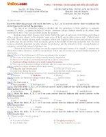 Đề kiểm tra Tiếng Anh lớp 10 Chuyên trường THPT Chuyên Huỳnh Mẫn Đạt, Kiên Giang năm 2015