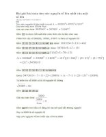 Bài giải bài toán tìm ước nguyên tố lớn nhất của một số lớn
