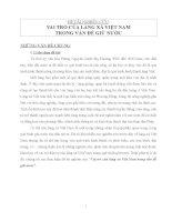 Vai trò của làng xã Việt Nam trong vấn đề giữ nước