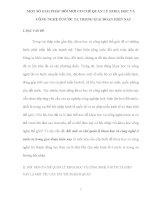 MỘT số GIẢI PHÁP đổi mới cơ CHẾ QUẢN lý KHOA học và CÔNG NGHỆ ở nước TA TRONG GIAI đoạn HIỆN NAY