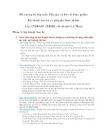 Đề cương ôn tập môn phụ gia và bao bì thực phẩm 15SH0101