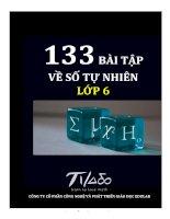 133 BÀI TẬP VỀ SỐ TỰ NHIÊN LỚP 6