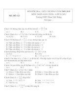 Đề kiểm tra 1 tiết môn toán lớp 12 phần giải tích chương 1 đề 81