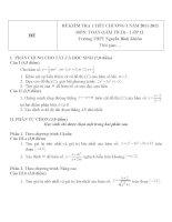 Đề kiểm tra 1 tiết môn toán lớp 12 phần giải tích chương 1 đề 80