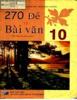 270 đề và bài Văn 10