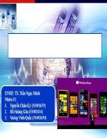 Tìm hiểu về hệ điều hành Windows phone OS
