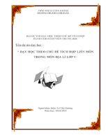 DẠY HỌC THEO CHỦ ĐỀ TÍCH HỢP LIÊN MÔNTRONG MÔN ĐỊA LÍ LỚP 9