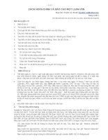 Cách hoàn chỉnh và báo cáo một luận văn