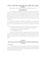 TIỂU LUẬN: PHÂN TÍCH MỘT SỐ ĐẶC ĐIỂM CỦA DOANH NGHIỆP LIÊN DOANH  VÀ LIÊN HỆ VỚI TẬP ĐOÀN DỆT MAY 19  5 LỜI MỞ ĐẦU