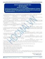Bài tập phương pháp bảo toàn điện tích